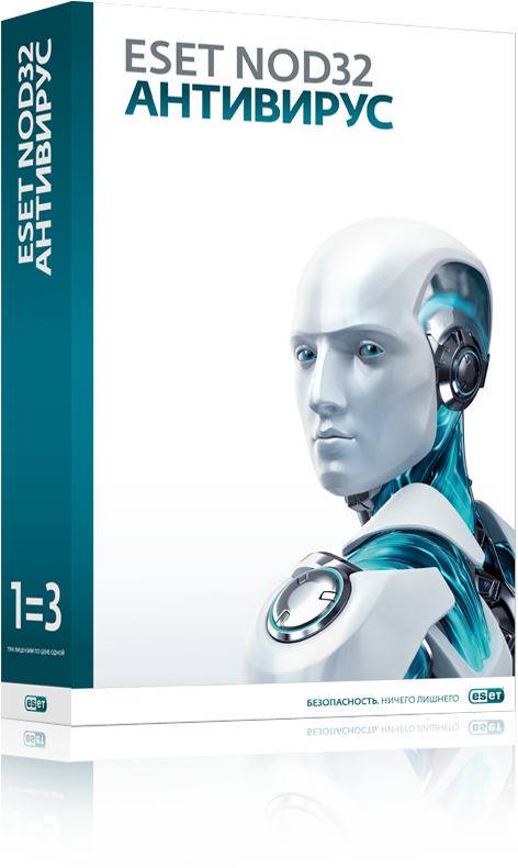 ESET NOD32 Антивирус продление на 20 меc / лицензия на 3 ПК (NOD32-ENA-2012RN(BOX)-1-1)