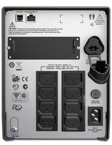 ИБП APC Smart-UPS 1000VA/700W (SMT1000I)