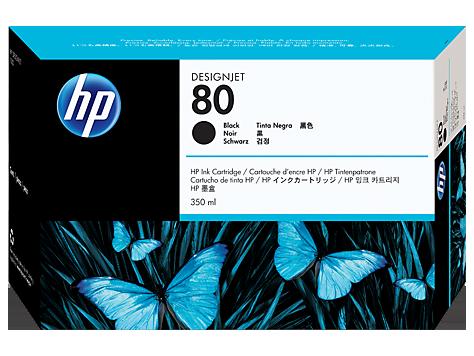 Картридж HP 80 черный, 350 мл (C4871A)