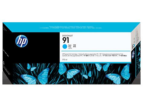 Картридж HP 91 голубой, 775 мл (C9467A)