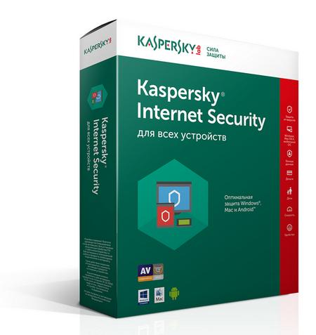 Kaspersky Internet Security на 3 устройства на 1 год (KL1941RBCFS)