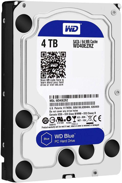 Жесткий диск HDD Western Digital Blue 4000 ГБ 3.5