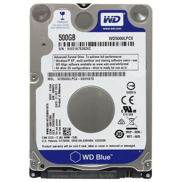 Жесткий диск HDD Western Digital Blue 500 ГБ 2.5