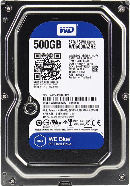 Жесткий диск HDD Western Digital Blue 500 ГБ 3.5