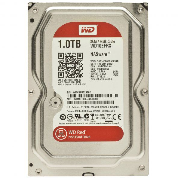 Жесткий диск HDD Western Digital Red for NAS 1000 ГБ 3.5