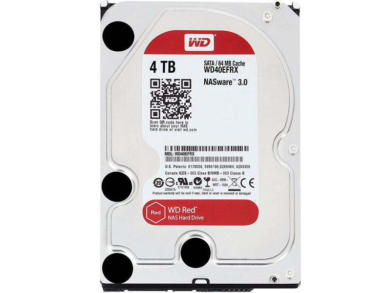 Жесткий диск HDD Western Digital Red for NAS 4000 ГБ 3.5