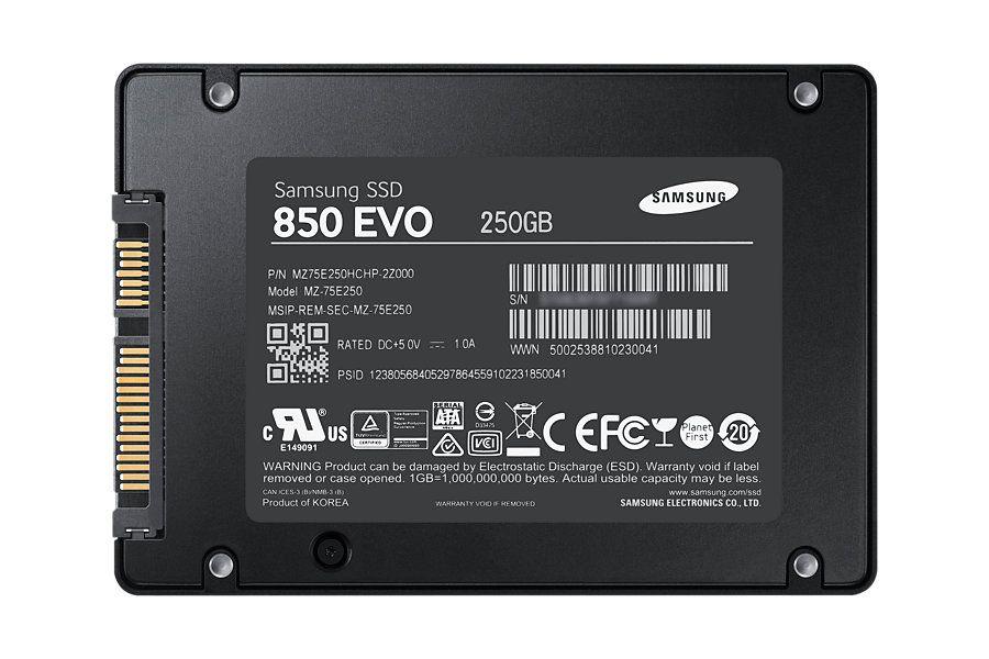 Жесткий диск SSD Samsung 850 EVO 250 ГБ 2.5